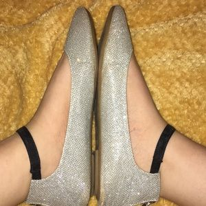 SPARKLE FLATS WITH BOW
